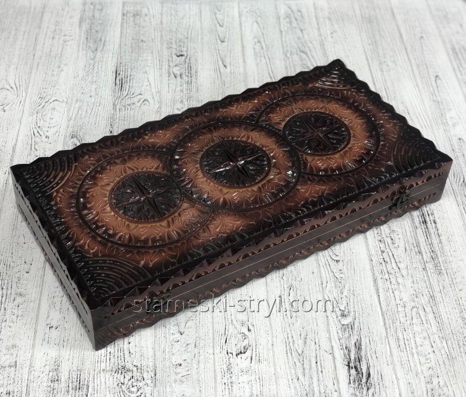 Нарды деревянные ручной работы, оригинальный подарок, арт. Н-019