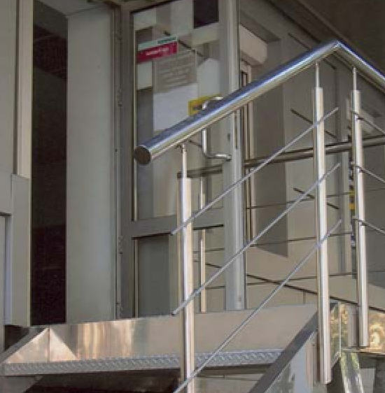 Buy Hand-rail for ladders from a stainless steel