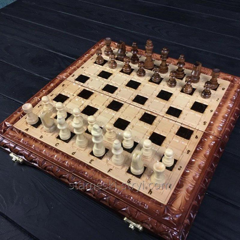 Шахматы-нарды ручной работы, эксклюзивный подарок, арт.НШ-004