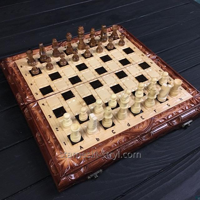 Подарочные шахматы-нарды ручной работы, арт. НШ-005