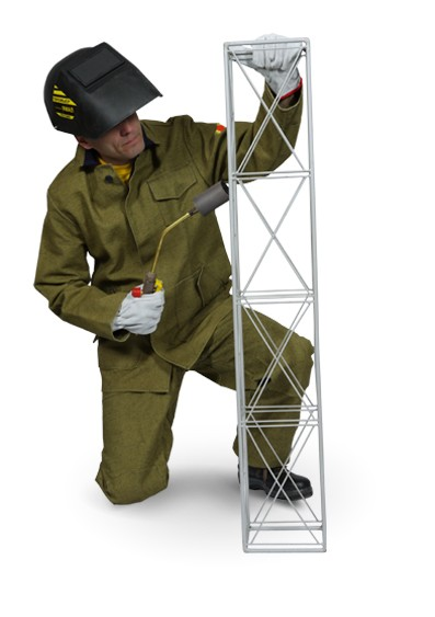 Buy Suit tarpaulin welder. Overalls for protection against sparks and radiation