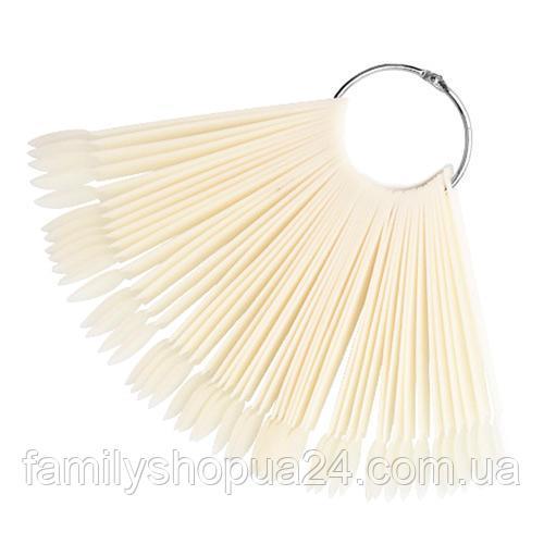 Купить Палитра веер на кольце для 50 образцов лака дизайна ногтей, натуральная