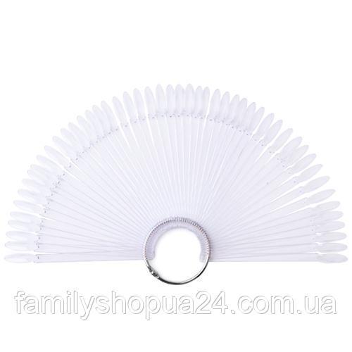 Купить Палитра веер на кольце для 50 образцов лака дизайна ногтей, прозрачная