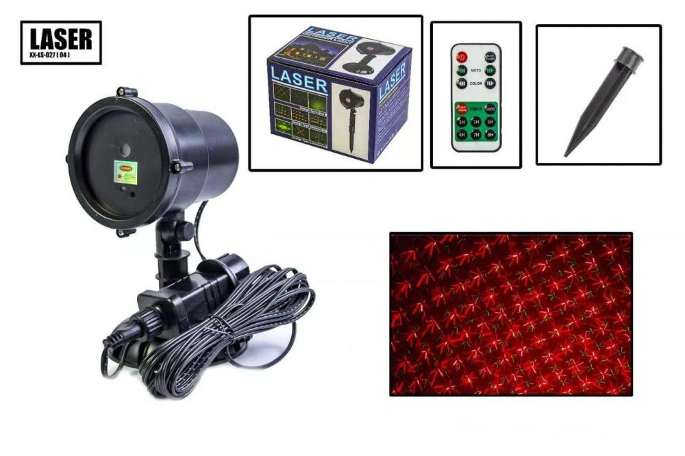 Купить Новогодний уличный лазерный проектор X-Laser XX-LS-027 с ДУ