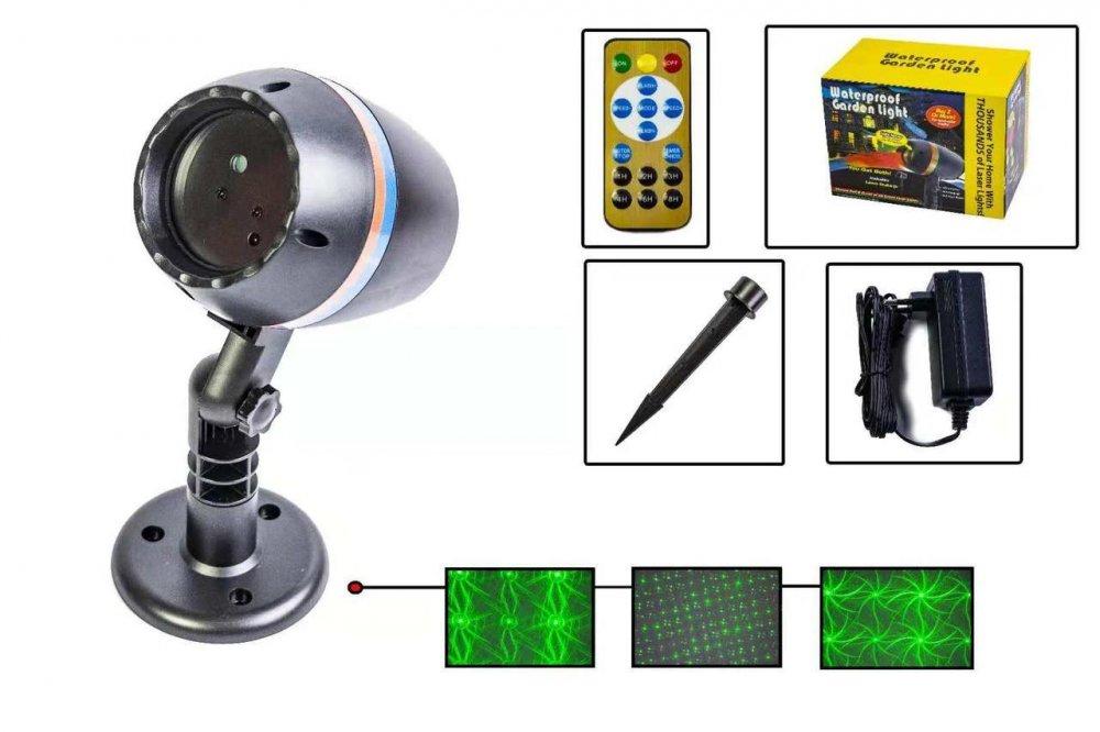 Купить Новогодний уличный лазерный проектор X-Laser XX-09 с ДУ