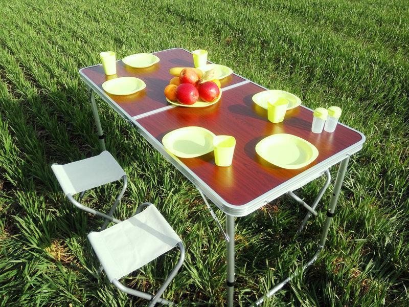 Купить Раскладной стол + 4 стула для активного отдыха