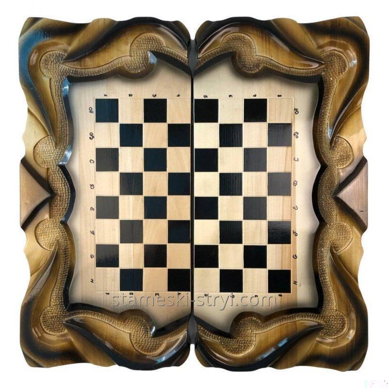Часы настенные Жар-птица, ручная резьба + выжигание, арт. Ч-001