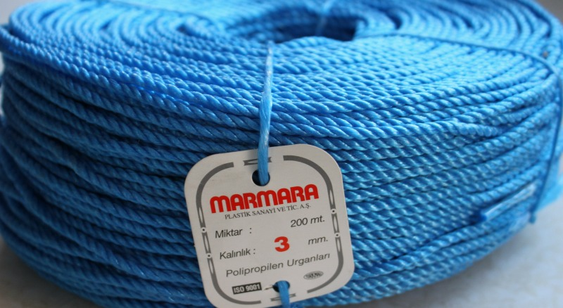 Канат полипропиленовый Marmara  диаметр 3 мм