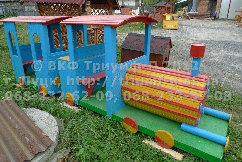 Паровозик на участке детского сада своими руками фото