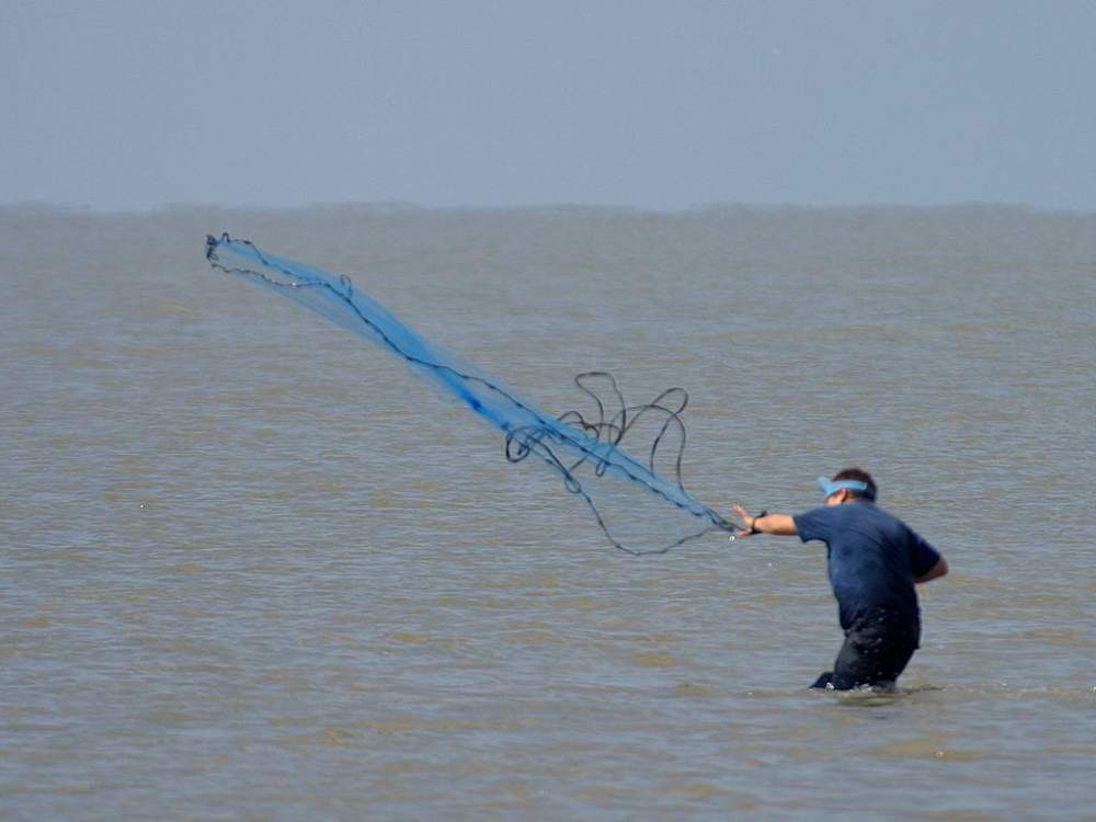 видео о рыбалке с помощью сети