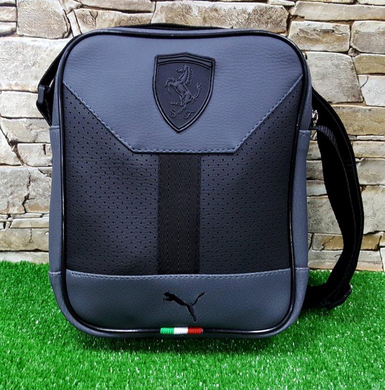 Купить Мужская сумка Puma Ferrari Slim Black ,Черная