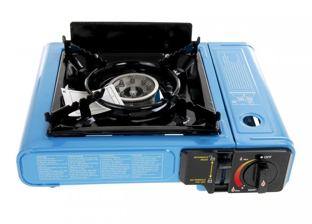 Купить ED1-270021, Портативная газовая плита 2340 W, , черный-синий