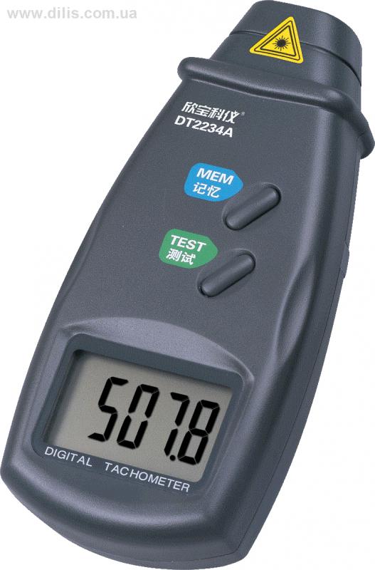 Портативный оптический тахометр DT2234A