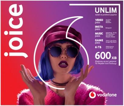 """Купить Стартовый пакет Vodafone """"Joice"""" месячный пакет включен 4G"""