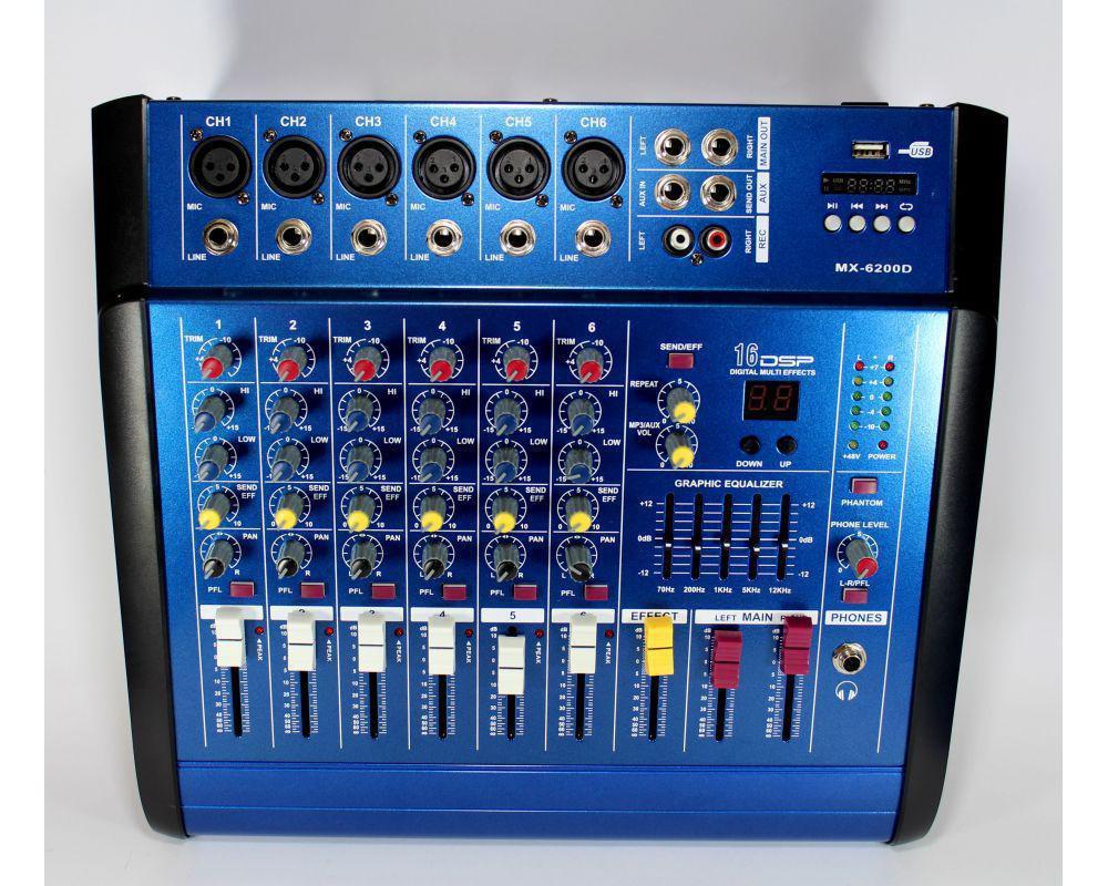 Купить Аудио микшер Mixer BT6300D   Микшерный пульт   Усилитель звука