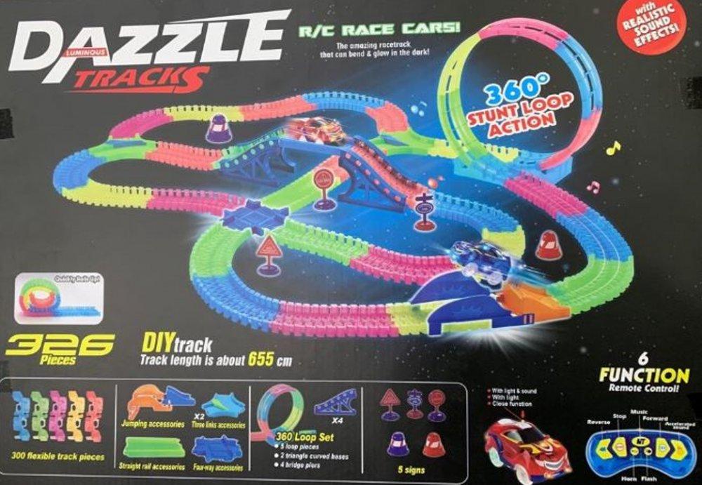 Купить DAZZLE TRACKS 326 деталей с пультом управления   Игрушечный трек для машинок   Конструктор трасса