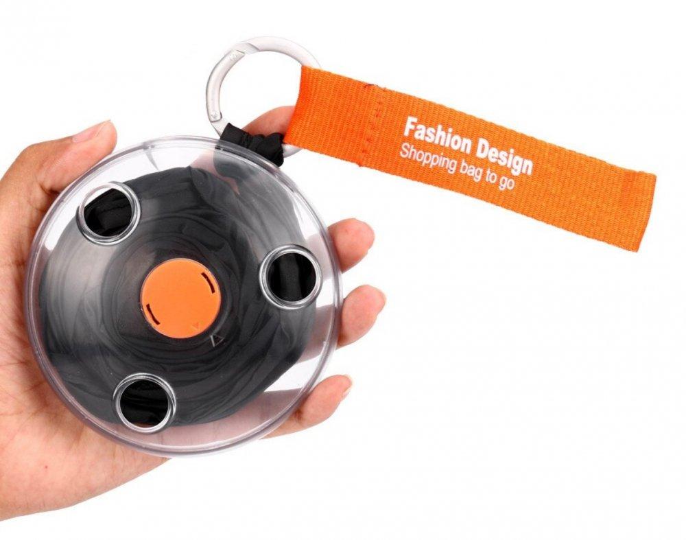 Купить Складная компактная сумка-шоппер ЧЕРНАЯ Sshopping bag to roll up   Сумка для покупок