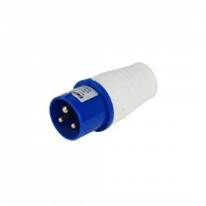 Купить Вилка 013 2P+PE 16A 220В IP44 переносная силовая