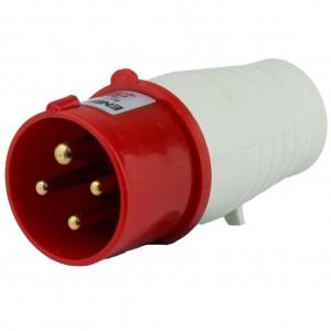 Купить Вилка 034 3P+PE 63A 380В IP44 переносная силовая