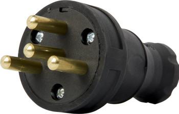 Купить Силовая вилка переносная каучуковая e.plug.rubber.030.25, 4п., 25А E.NEXT (s9100028)