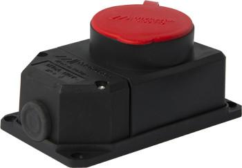 Купить Силовая розетка стационарная с защитной крышкой каучуковая e.socket.rubber.062.16, 4п., 16А E.NEXT (s9100037)