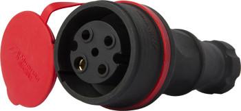 Купить Силовая розетка переносная с защитной крышкой каучуковая e.socket.rubber.071.32, 4п., 32А E.NEXT (s9100033)