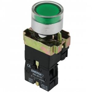 Купить Кнопка с индикатором ПУСК зеленая NO XB2-BW3371