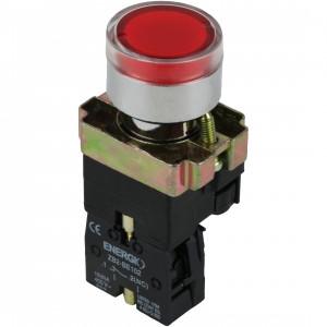 Купить Кнопка с индикатором СТОП красная NO XB2-BW3472
