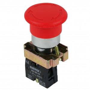 Купить Кнопка Грибок с фиксацией красная NC XB2-BS542