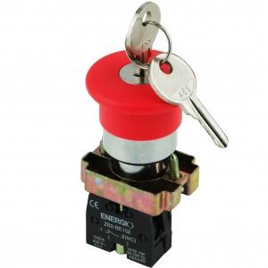 Купить Кнопка Грибок с ключом красная NC XB2-BS142