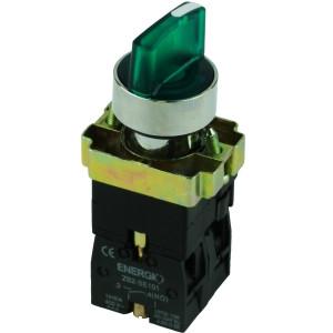 Купить Переключатель секторный 1-0 с индикатором зеленый NO+NC XB2-BK2365