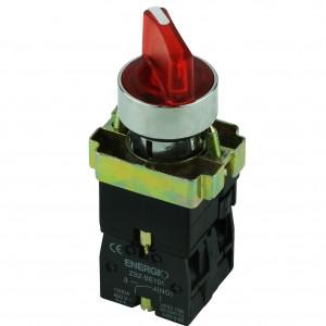 Купить Переключатель секторный 1-0 с индикатором красный NO+NC XB2-BK2465