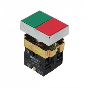 Купить Кнопка ПУСК/СТОП зеленая/красная NO+NC XB2-BL8325
