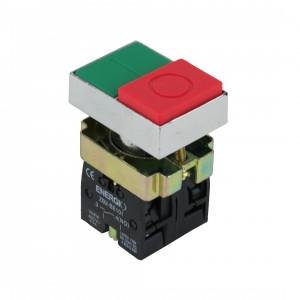 Купить Кнопка ПУСК/СТОП зеленая/красная выступающая NO+NC XB2-BL8425