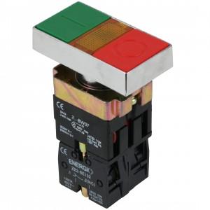 Купить Кнопка ПУСК/СТОП с индикатором зеленая/красная NO+NC XB2-BW8375