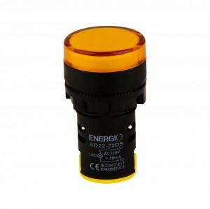 Купить Индикатор ЛЕД AD22-22DS/Y 220В желтый