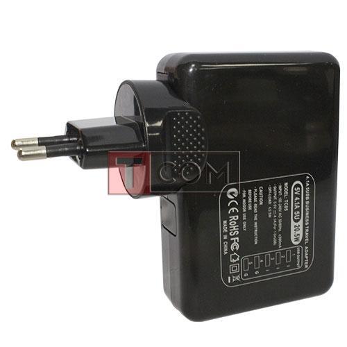 Купить Сетевая зарядка на 5 гн.USВ (AC 220V/ DC 5V 4.1A) чёрная