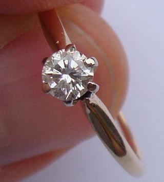Золоте кільце з діамантом 22 купити в Київ 8b6595c1047ff