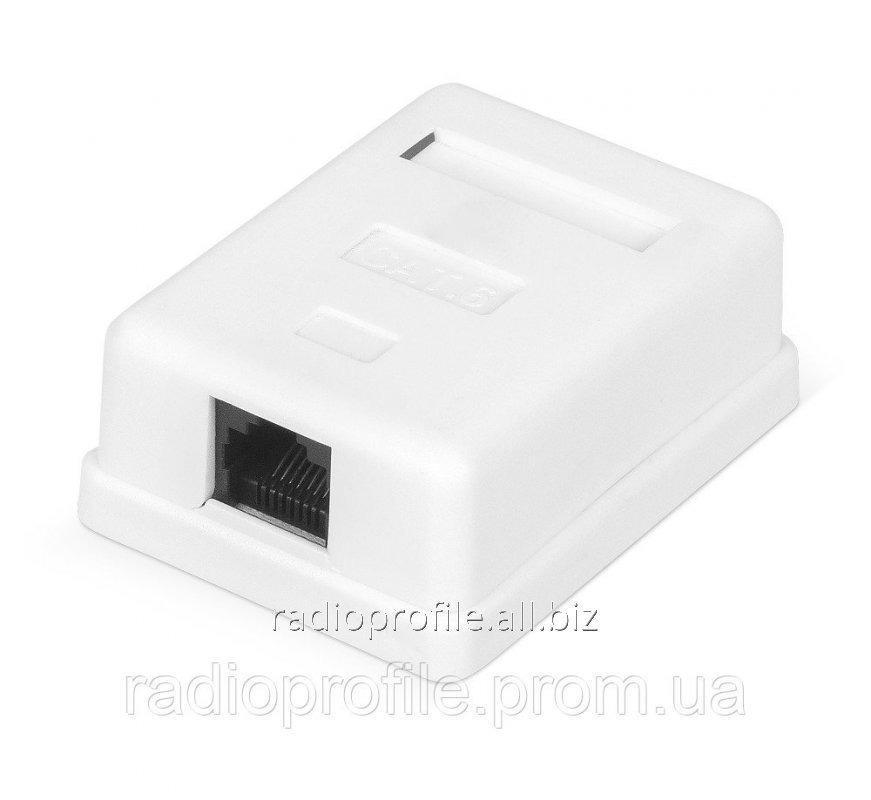 Купить Розетка RITAR UTP 8P8C RJ45 1 порт Cat-6, накладна біла Q300