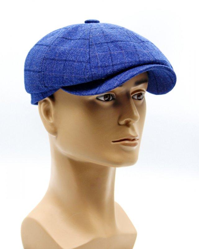 Купить Кепка восьмиклинка мужская светло синяя.