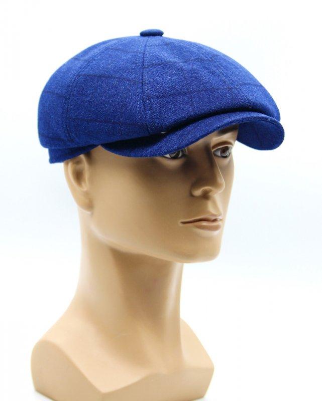 Купить Темная синяя кепка восьмиклинка мужская.