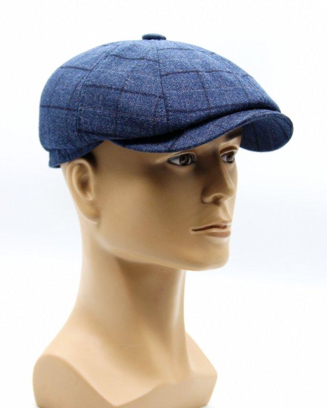 Купить Кепка восьмиклинка синяя мужская.