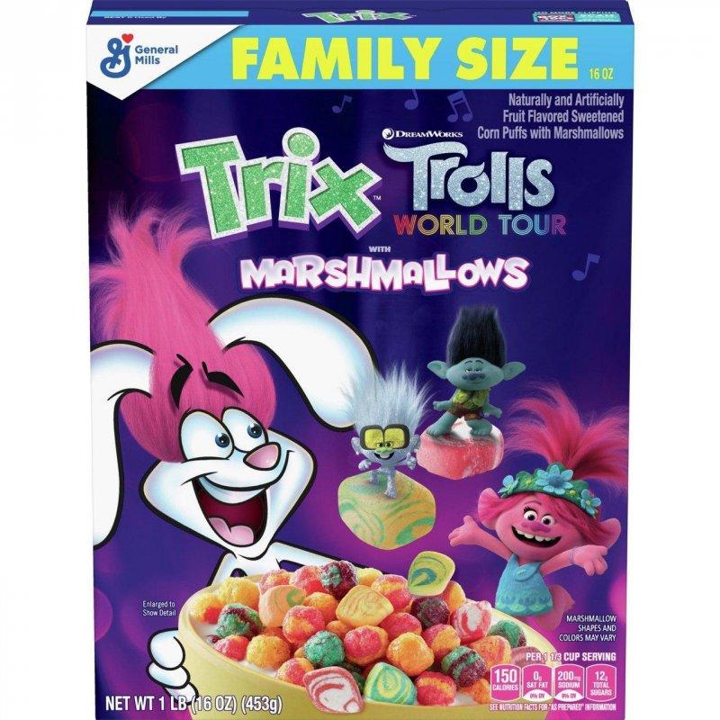 Купить Хлопья Trix Trolls with Marshmallows 452g