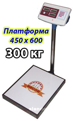 Весы платформенные 300кг 450*600