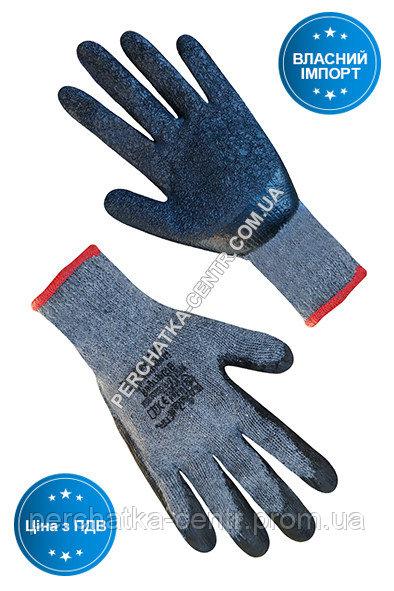 Купить Перчатки хлопчатобумажные серые с черным латексным покрытием RWgrip G / B