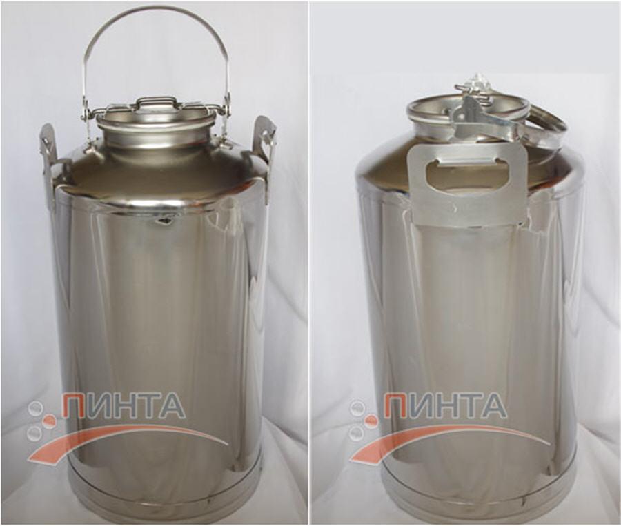 Бидон из нержавейки - 40 литров для транспортировки молока по HD16