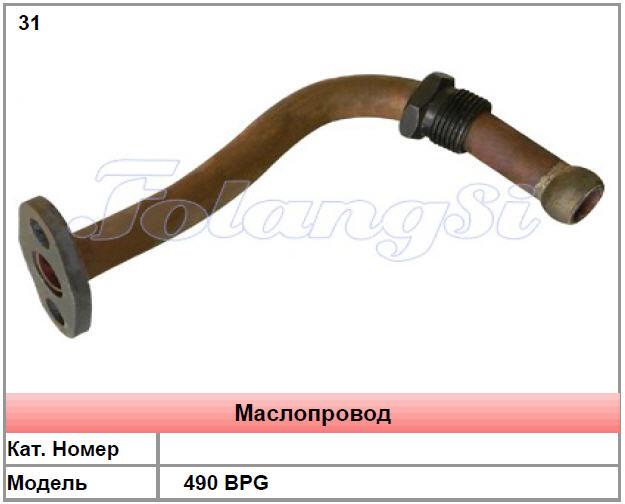 Маслопровод к погрузчику 490 BPG в Украине, Купить, Цена, Фото
