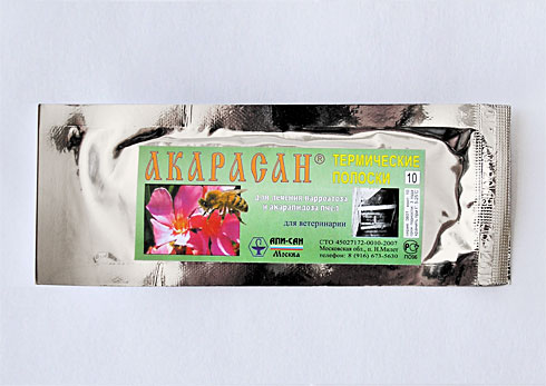 Акарасан | препарат для лікування акарапидоз і варроатоз бджіл