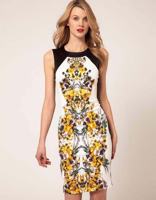 Платье karen millen черно белое
