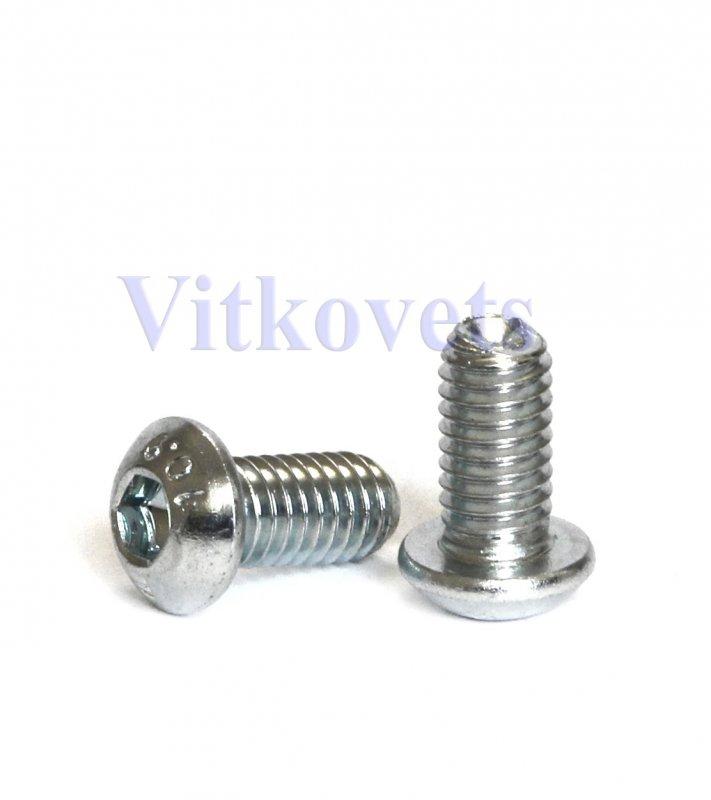 Купить Винт с полукруглой головкой и внутренним шестигранником DIN 7380-1, M8х16